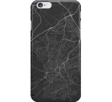 Bristol, England Map. (White on black) iPhone Case/Skin