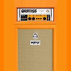 Orange Electric Guitar Amp amplifier by Johnny Sunardi