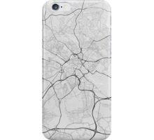 Leeds, England Map. (Black on white) iPhone Case/Skin