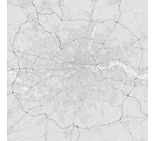 London, England Map. (Black on white) Photographic Print