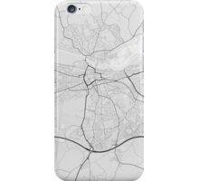 Reading, England Map. (Black on white) iPhone Case/Skin