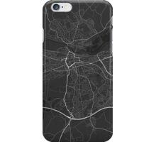 Reading, England Map. (White on black) iPhone Case/Skin