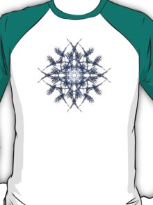 Barbed Blue - Fractal Art design T-Shirt