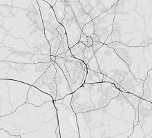 Stoke, England Map. (Black on white) by Graphical-Maps
