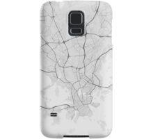 Helsinki, Finland Map. (Black on white) Samsung Galaxy Case/Skin