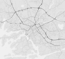 Turku, Finland Map. (Black on white) by Graphical-Maps