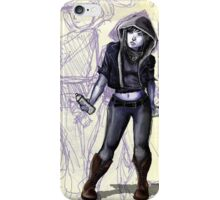 Female Graffiti Artist iPhone Case/Skin