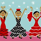 Flamenco Dancers by Sonia Pascual