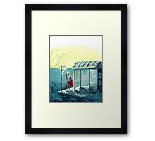Average Heroes: The Bus Stop Waiter Framed Print