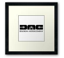 DeLorean Motor Co. logo Framed Print