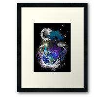 Cosmic geometric peace Framed Print