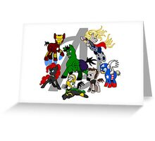 The Avengers Pony Club Greeting Card