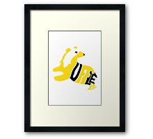 Typographic Hufflepuff Framed Print