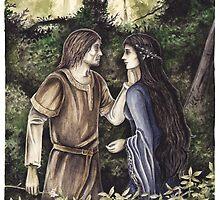 Beren & Lúthien by Peter Xavier Price