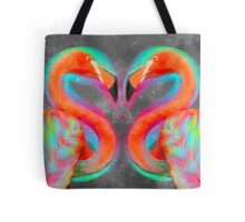 Life Is So Much Brighter (Neon Infinity Flamingos 2) Tote Bag