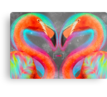 Life Is So Much Brighter (Neon Infinity Flamingos 2) Metal Print