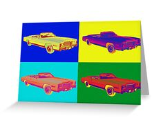 1975 Cadillac El Dorado Convertible Pop Art Greeting Card