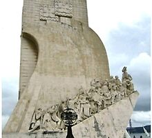 COLLAGE OF THE DISCOVERIES MONUMENT-LISBON,PORTUGAL by JAYMILO