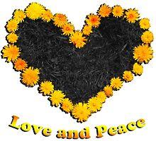 Dandelion love and peace by Radchopp