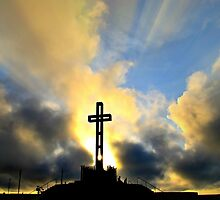 Easter Cross ~ digital paint effect by 4TheGlryOfGod