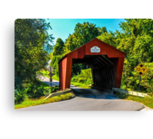 Cooley Covered Bridge Canvas Print
