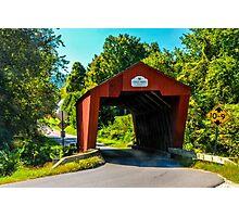 Cooley Covered Bridge Photographic Print