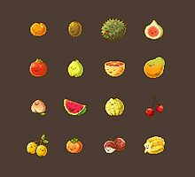 Pixel Fruits Set 1 by banafria