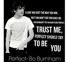 Perfect- Bo Burnham Photographic Print
