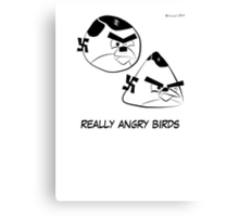 Really Angry Birds Canvas Print