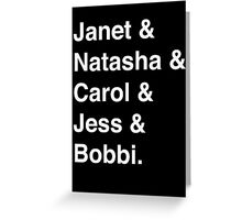 Avengers Ladies (White) Greeting Card