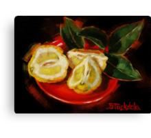 Bush Lemon Sliced Canvas Print