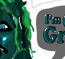 I'm Old Gregg! - The Mighty Boosh Characters Sticker