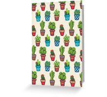 Cactus Pot Plant Garden Greeting Card
