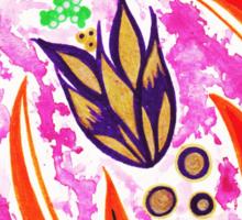 """""""Zig Zag Floral"""" By Jessie R Ojeda Sticker"""