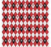 Red Devils & Angels Argyle Pattern by PrivateVices
