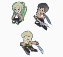 Attack on Titan Annie, Bertl, Reiner by toifshi