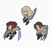 Attack on Titan Sasha, Ymir, Krista by toifshi
