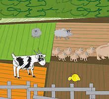 In the Farmyard 6 by Diana-Lee Saville