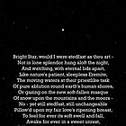 """Bright Star"" - a sonnet by John Keats; especially good as a card. by Philip Mitchell"