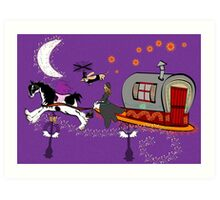 Gypsy Time Travellers Art Print