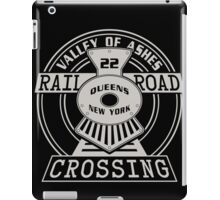 Valley of Ashes Railroad Crossing iPad Case/Skin
