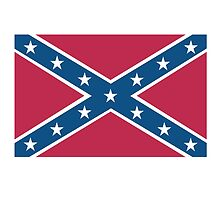 Confederate Rebel Dixie Flag Pure & Simple, pre USA by TOM HILL - Designer