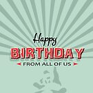 Modern Birthday Design With Panda And Embossed Effect Text  by Moonlake