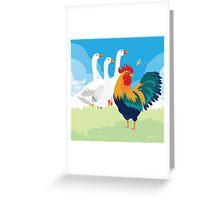 Barnyard show off Greeting Card