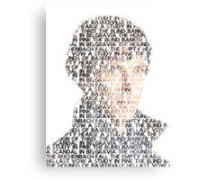 Sherlock From Words Canvas Print