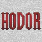Hodor T-Shirt - Red by Drew Gilbert