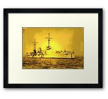 A digital painting of  Germany's First Battle Cruiser, the von der Tann WW1 Framed Print