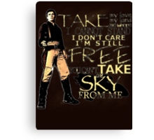 Take My Love Canvas Print