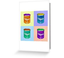 In Loving Memory of Donny Who Loved Bowling set of 4 pop art Greeting Card