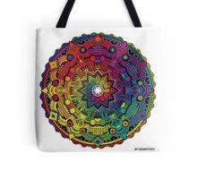 "Mandala 59 ""Time Dilation"" Rainbow Multicoloured Tote Bag"